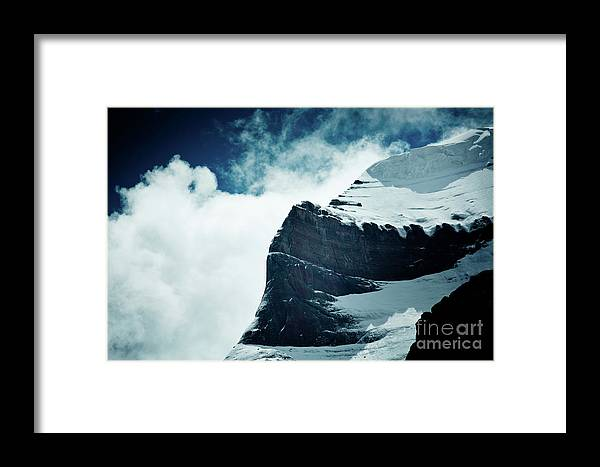 Tibet Framed Print featuring the photograph Holy Kailas West Slop Himalayas Tibet Artmif.lv by Raimond Klavins