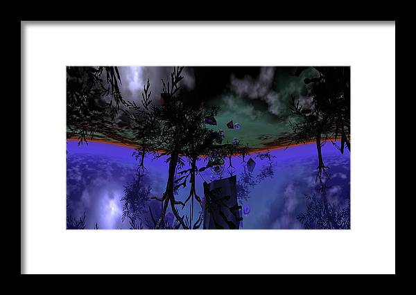 Digital Painting Framed Print featuring the digital art Homage by David Lane
