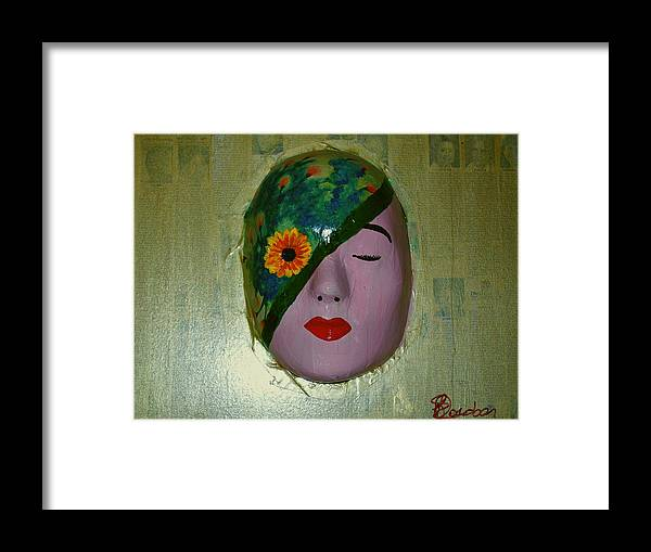 Gold Framed Print featuring the painting Homage One by Laurette Escobar