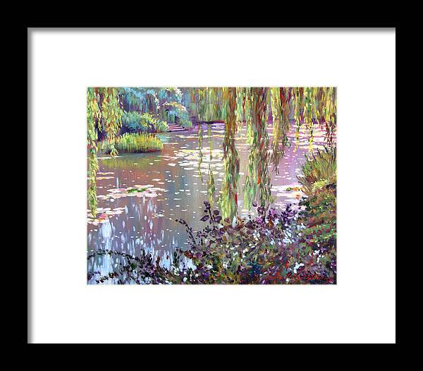 Impressionism Framed Print featuring the painting Homage To Monet by David Lloyd Glover