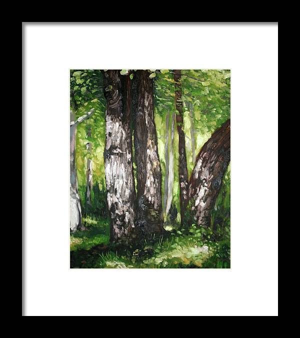 Trees Framed Print featuring the painting Homage To Renoir by Keith O Rahilly
