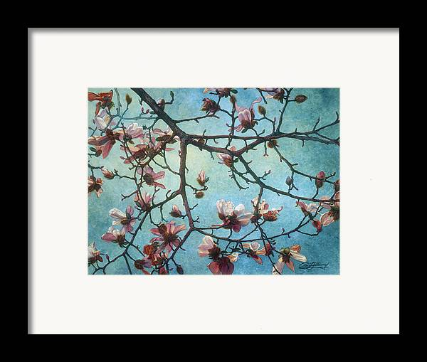 Blossoms Framed Print featuring the painting Homage To Vincent by Craig Gallaway