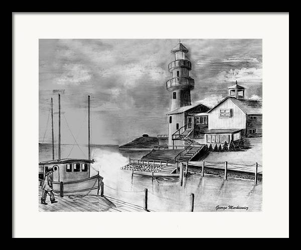 Sea Landscape Framed Print featuring the print Home Before Dark by George Markiewicz