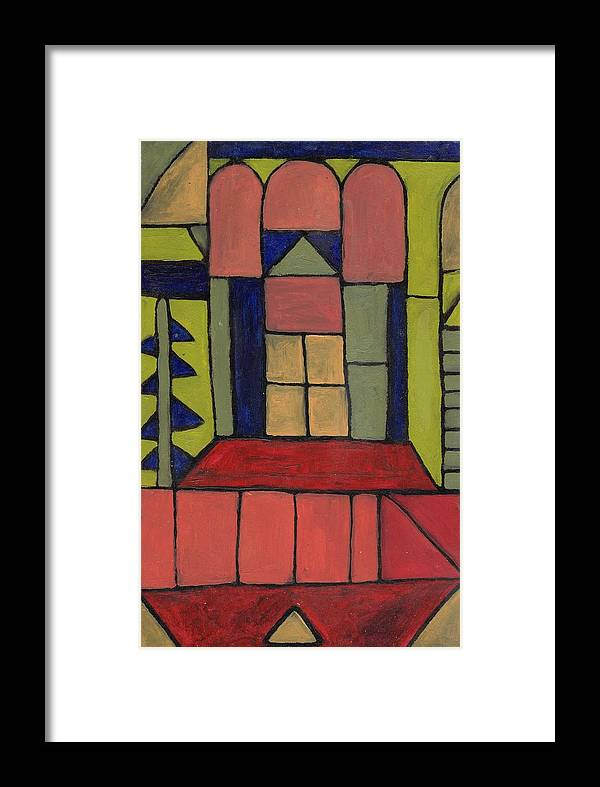 House Framed Print featuring the painting Home by Michell Rosenthal