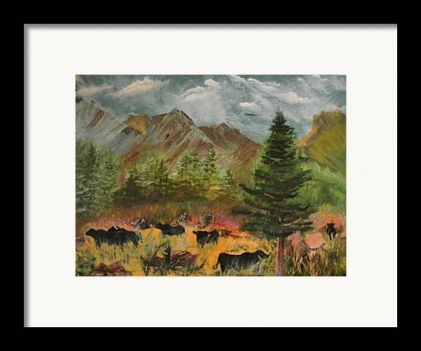 Landscape Framed Print featuring the painting Home On The Range by Jack Hampton