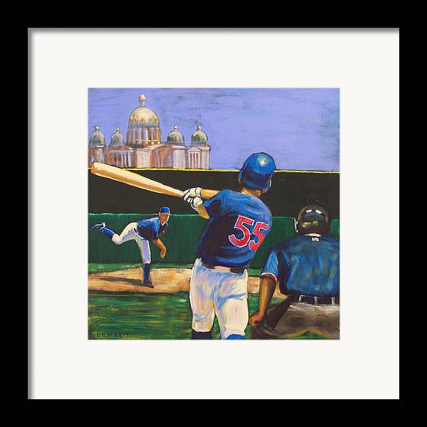 Iowa Framed Print featuring the painting Home Run by Buffalo Bonker