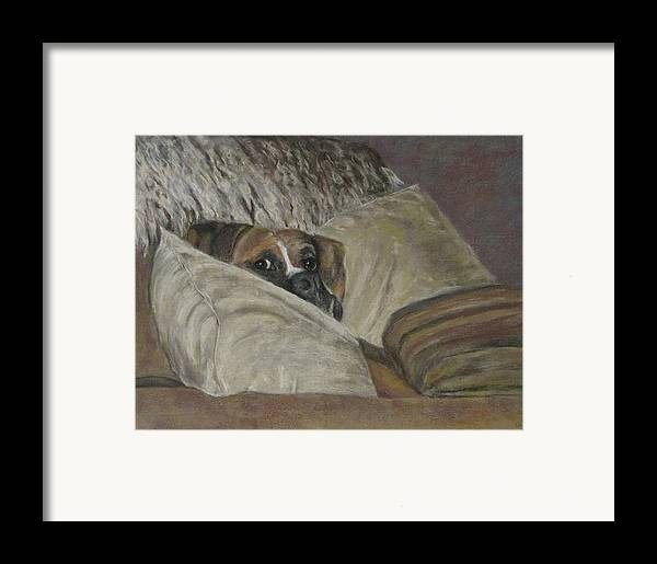 Boxers Framed Print featuring the painting Home So Soon by Elizabeth Ellis