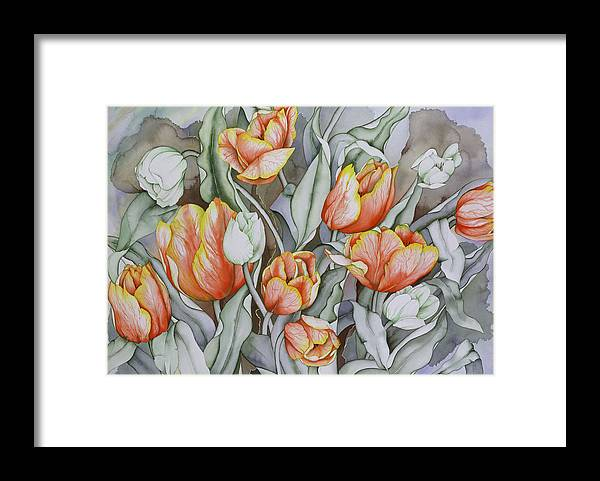 Flowers Framed Print featuring the painting Home Sweet Home 2 by Liduine Bekman