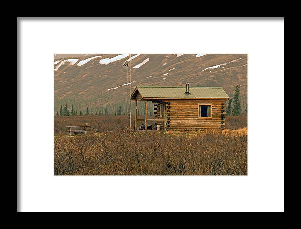 Log Cabin Framed Print featuring the photograph Home Sweet Fishing Home In Alaska by Denise McAllister