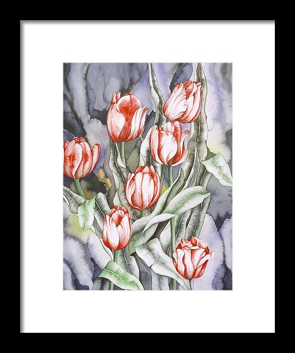 Flower Framed Print featuring the painting Home Sweet Home by Liduine Bekman
