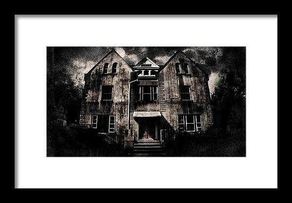 Haunted House Framed Print featuring the digital art Home by Torgeir Ensrud