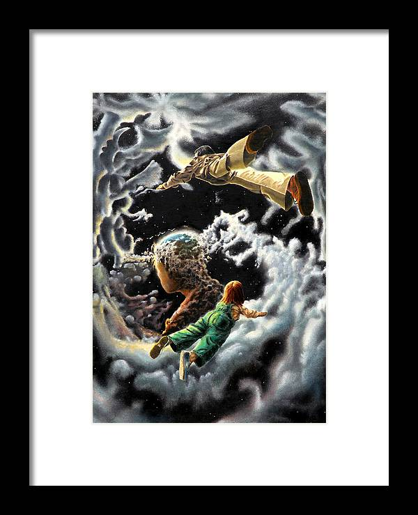 Fantasy Framed Print featuring the painting Homecoming by Dave Martsolf