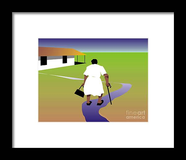 Women Framed Print featuring the digital art Homecoming by Walter Neal