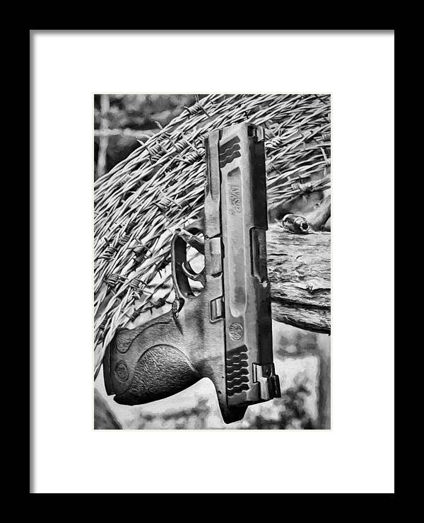 Homeland Security Framed Print featuring the photograph Homeland Security by JC Findley