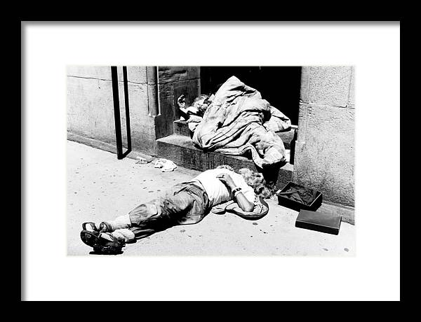 Photography Framed Print featuring the photograph Homelessness by Martin Rochefort