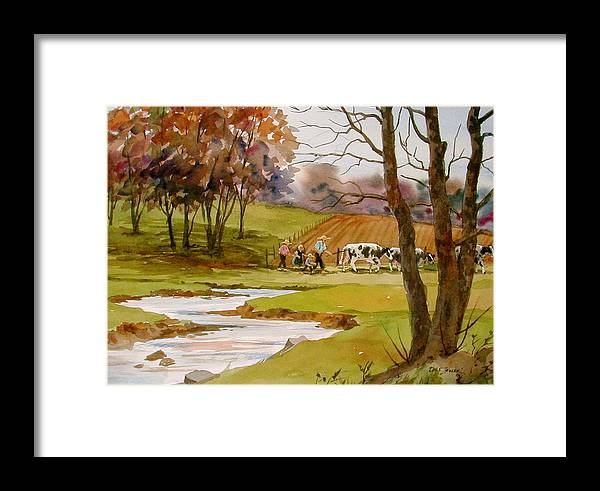 Landscape Framed Print featuring the painting Homeward Bound by Faye Ziegler