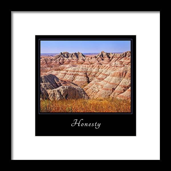 Inspiration Framed Print featuring the photograph Honesty 1 by Mary Jo Allen