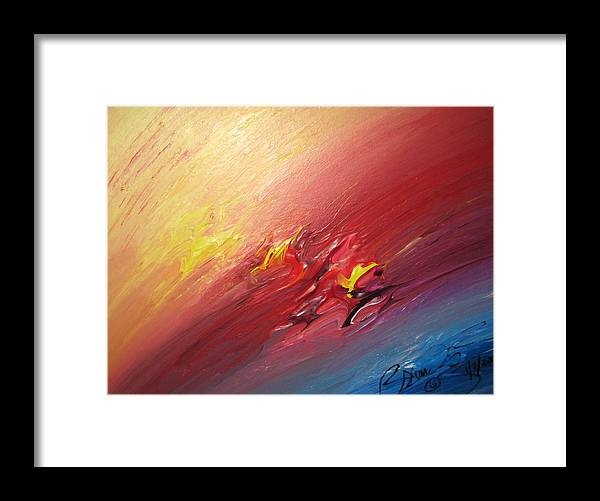 Abstract Framed Print featuring the painting Honeymoon Bliss - A by Brenda Basham Dothage