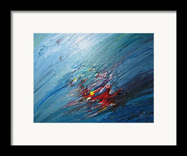 Abstract Framed Print featuring the painting Honeymoon Bliss - B by Brenda Basham Dothage