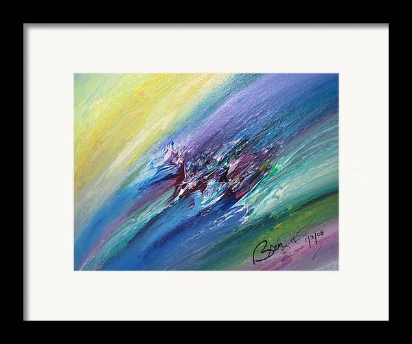 Abstract Framed Print featuring the painting Honeymoon Bliss - C by Brenda Basham Dothage