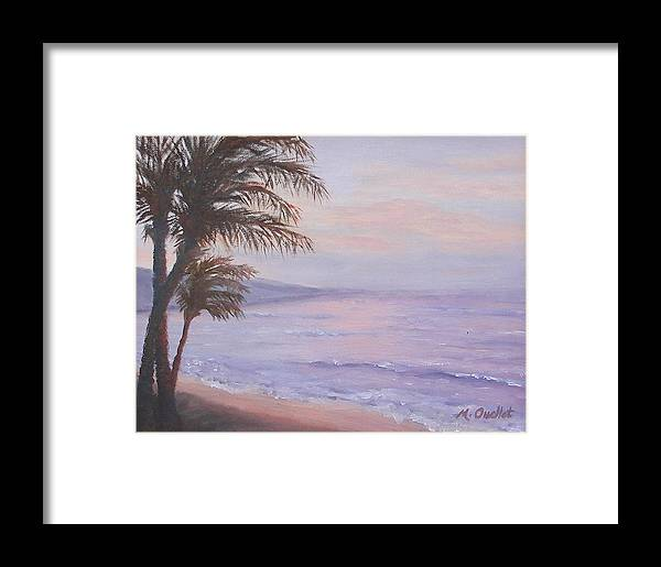Landscape Framed Print featuring the painting Honeymoon In Maui by Maxine Ouellet