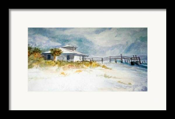 Honeymoon Framed Print featuring the painting Honeymoon Island by Ruth Mabee