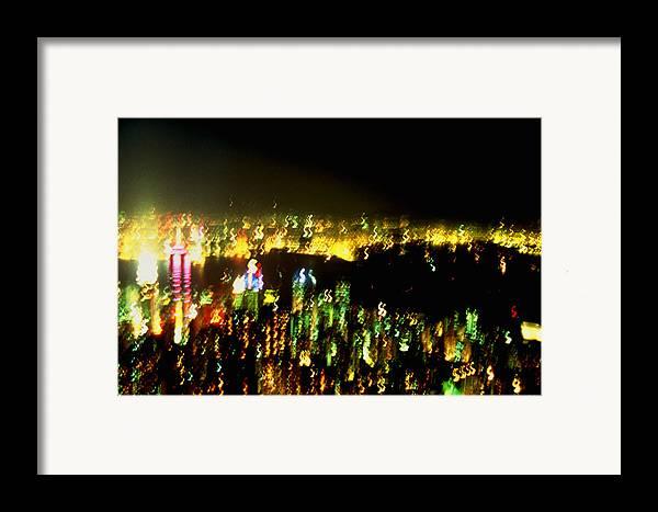 Hong Kong Framed Print featuring the photograph Hong Kong Harbor Abstract by Brad Rickerby