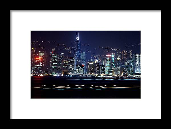 City Framed Print featuring the photograph Hong Kong Harbor by Brad Rickerby