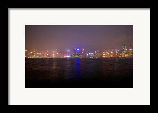 Harbor Framed Print featuring the photograph Hong Kong Harbor December 2 by Brad Rickerby