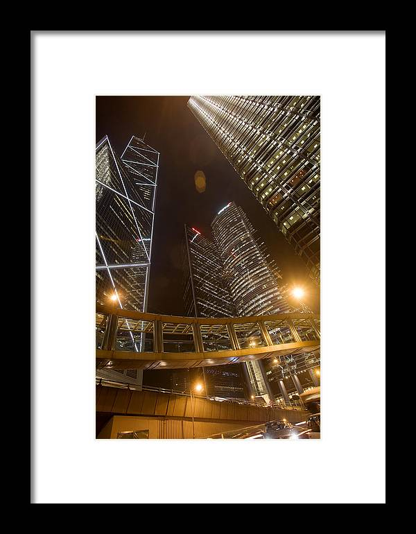 City Framed Print featuring the photograph Hong Kong Steel Buildings by Brad Rickerby
