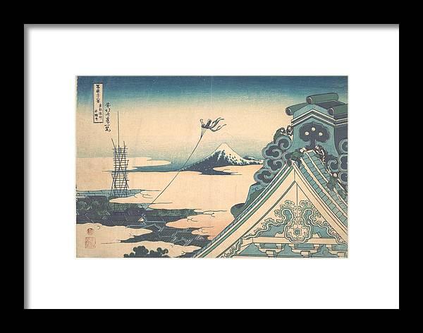 Katsushika Hokusai - Honganji At Asakusa In Edo Framed Print featuring the painting Honganji At Asakusa In Edo by Eastern Accent