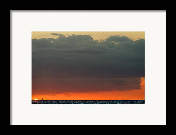 Hawaii Framed Print featuring the photograph Honolulu Sunset by Brad Rickerby