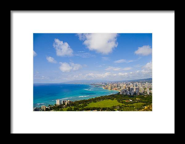 Landscape Framed Print featuring the photograph Honolulu by Wes Shinn