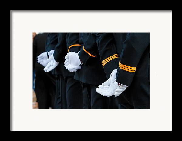 Military Framed Print featuring the photograph Honor Guard by Lone Dakota Photography