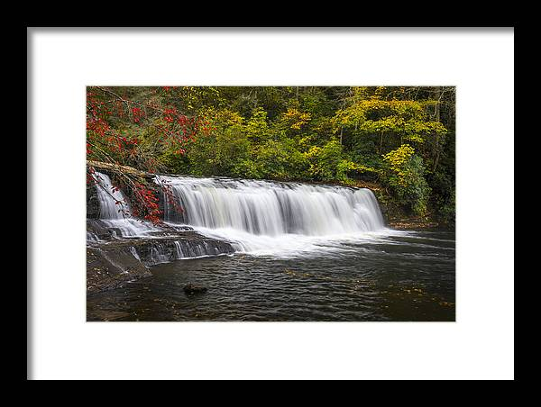 Hooker Falls Framed Print featuring the photograph Hooker Falls In Autumn - Dupont State Forest Nc by Dave Allen