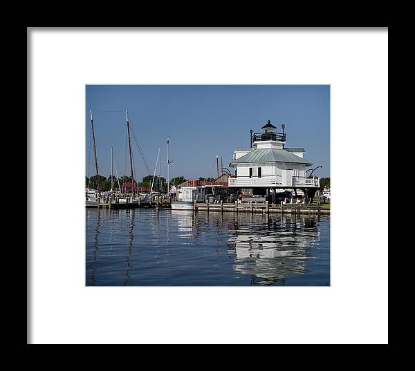 Hooper Strait Framed Print featuring the photograph Hooper Strait Lighthouse St. Michaels Maryland by Brendan Reals