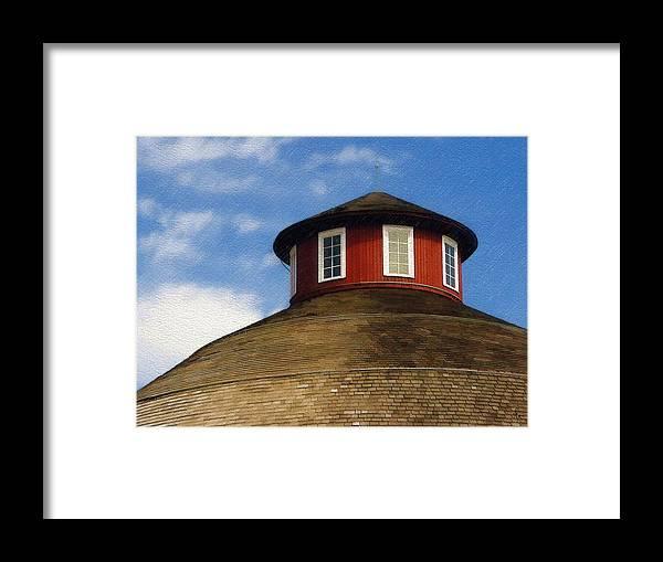 Barn Framed Print featuring the photograph Hoosier Cupola by Sandy MacGowan