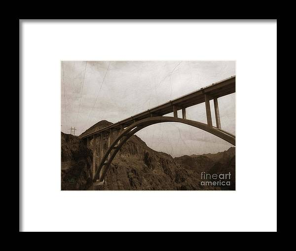 Hoover Dam Bridge Framed Print featuring the photograph Hoover Dam Bridge by Beauty For God