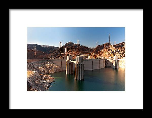 Hoover Dam Framed Print featuring the photograph Hoover Dam by Melody Watson
