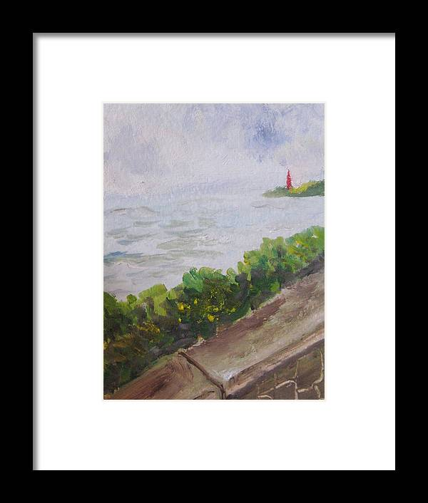 Oil Framed Print featuring the painting Hope - In Rough Times by Trilby Cole