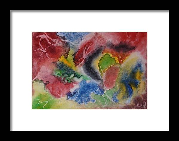 Abstract Painting Framed Print featuring the painting Hope Energy by Georgeta Blanaru
