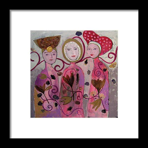 Figurative Framed Print featuring the painting Hope Faith Love by Aliza Souleyeva-Alexander