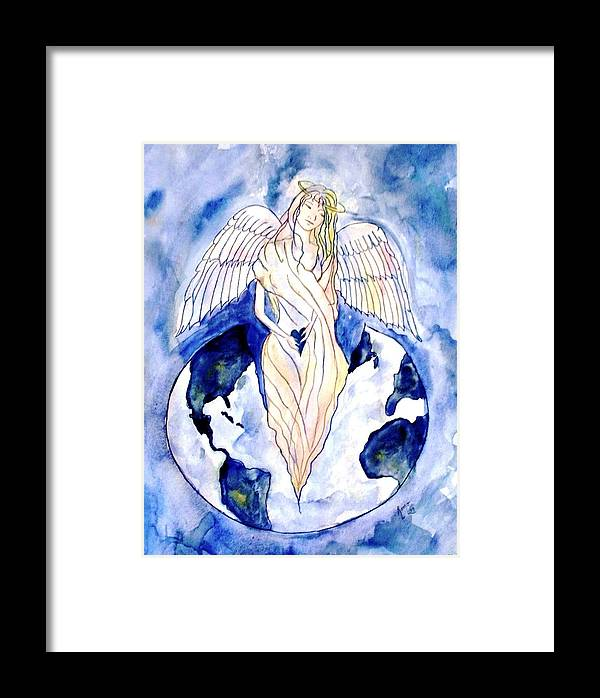 Watercolor Painting Framed Print featuring the painting Hope For A Broken World by Robin Monroe