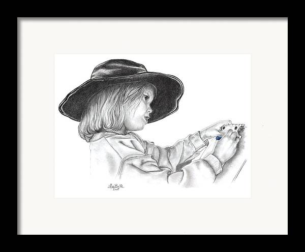Children Framed Print featuring the drawing Hope For The Future by Lisa Bell