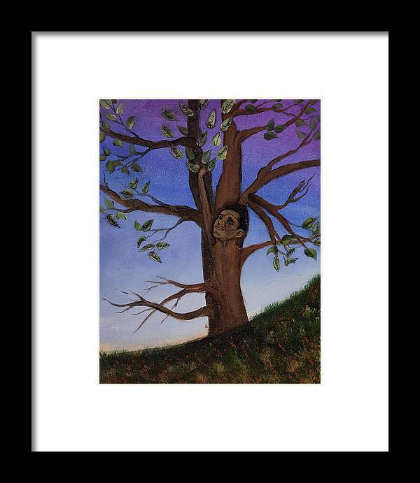 Trees Framed Print featuring the painting Hope by Julia Ellis
