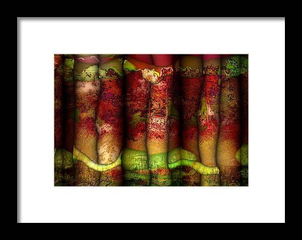 Design Framed Print featuring the digital art Hope Kibou by Valerie Anne Kelly