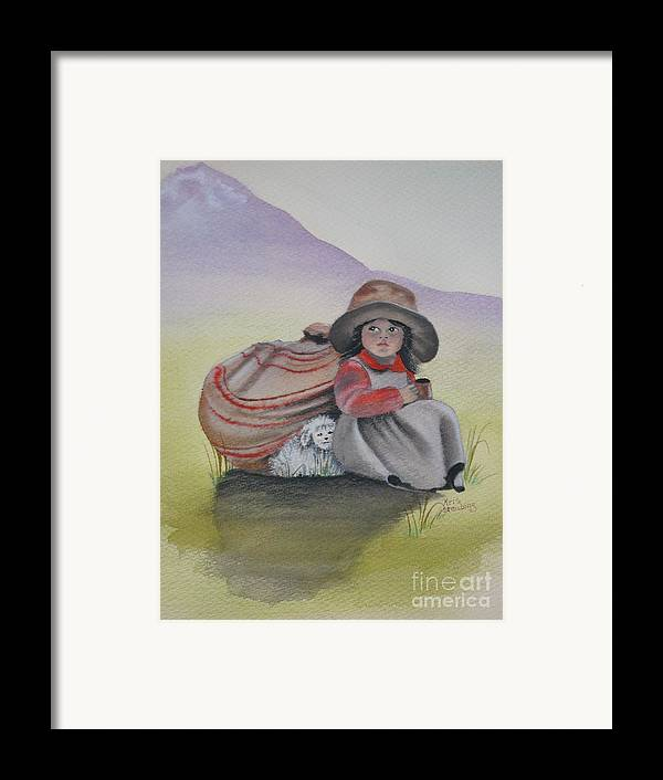 Children Framed Print featuring the painting Hope by Kris Crollard