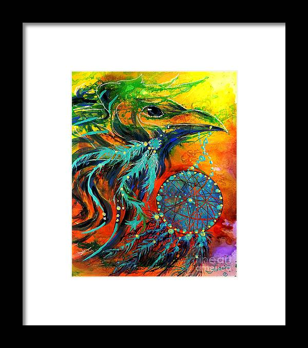 Mythical Framed Print featuring the painting Hope Rising by Francine Dufour Jones