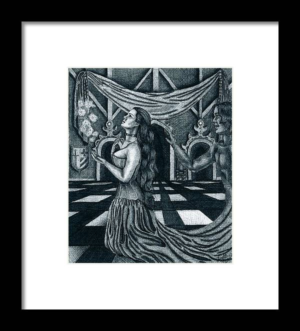 Fantasy Framed Print featuring the drawing Hopes And Dreams by Scarlett Royal