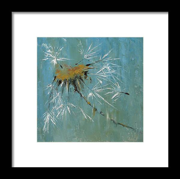 Plants Framed Print featuring the painting Hopes by Barbara Andolsek